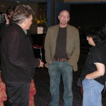 Terry Bisson, Tad Williams, and Lisa Goldstein before the readings.