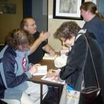 Jeffrey Ford and Tim Pratt sign books