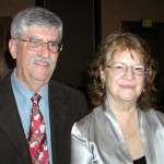 Patricia and David (pictured at the awards banquet of the International Conference on the Fantastic in the Arts, March 2008)