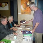 Jacob Weisman gets a book signed